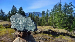 emerson poem on rock w mt benson in bg