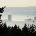 foggy downtown telephoto from linley